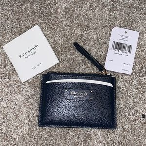 Kate Spade small zip card holder  - Navy blue